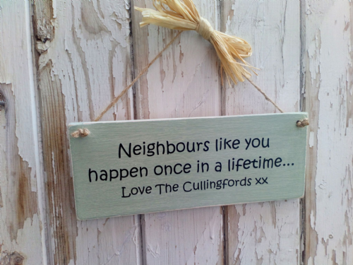 Personalised Neighbours Like You Plaque
